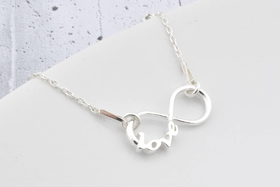 fa28aca6576b3 Sterling Silver infinity Necklace infinity Necklace infinity