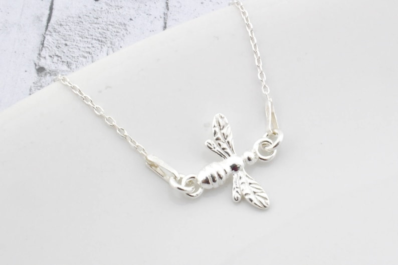acf427aa62afa Sterling Silver Bee Necklace, Bee Pendant, Bee Charm, Queen Bee, Silver  Bee, Bee Jewelry, Little Bee, Diva, Queen, gift for her, mummy