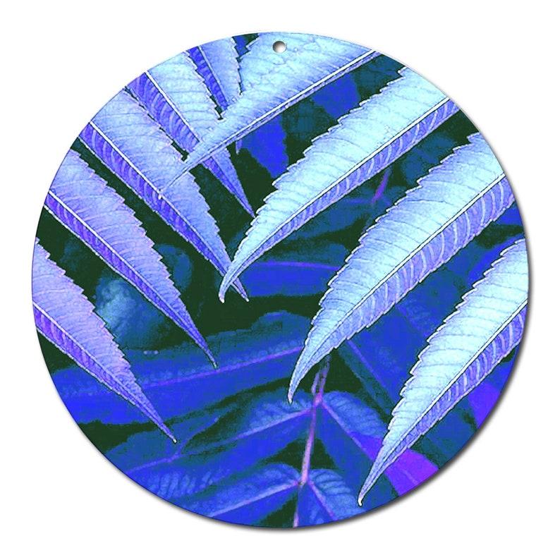 Sun catcher  blue leaves  no \u00d8 4 inch Glass picture deco window picture plant plants acrylic glass flowers gift decoration window 28