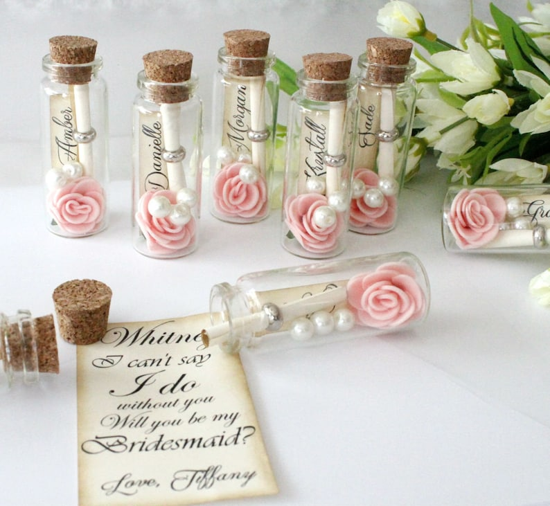 Will you be my bridesmaid  message in a bottle Bridesmaid image 0