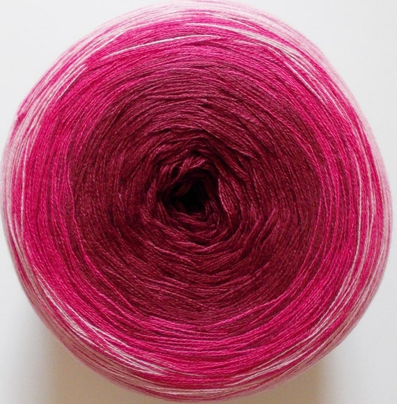 Bobbel Cotton weiß blau Woolly Hugs 03 Farbverlaufsgarn 200g 8,95€//100g