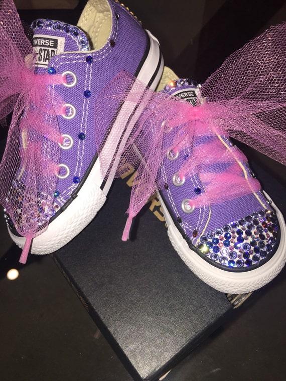 Custom Chucks for all little princesses Swarovski Crystal  34351ad08