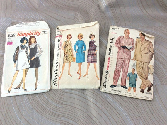 Simplicity Patterns Simplicity Vintage Pattern Sewing Etsy