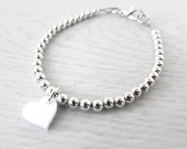 Silver Charm Bracelet  Sterling Silver Bracelet  Gifts for image 0