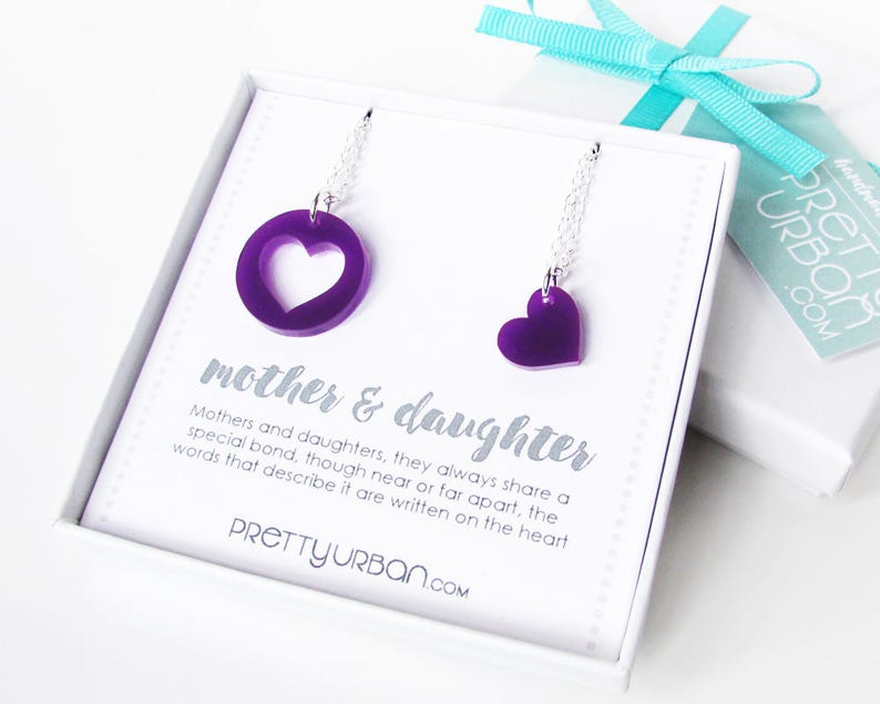 Mother Daughter Necklace Set  Mothers Day Gift  Mother image 0