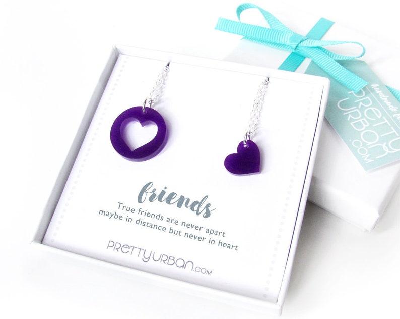 Best Friend Birthday Gift  Long Distance Friendship Jewellery image 0