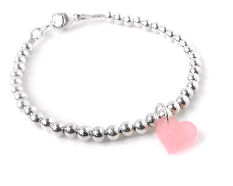 Silver Bead Bracelet Mothers Day Bracelet  Sterling Silver image 0