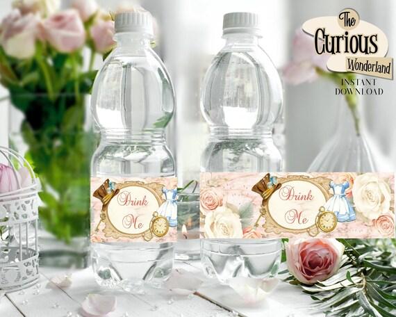 Alice in Wonderland Drink Me Water Bottle Labels Editable Labels Printable Party decor Instant download