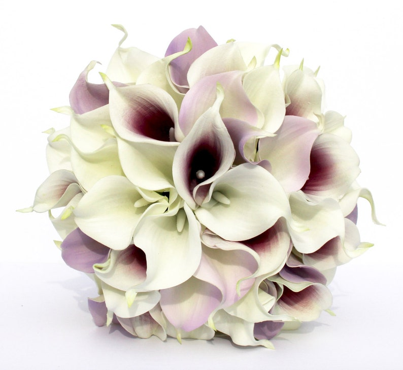 WEDDING BOUQUET Purple Calla Lily Wedding Bouquet Real To image 0