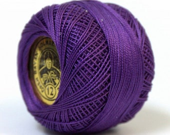 Oren Bayan Cotton Perle Size 12 Purple  5 gr