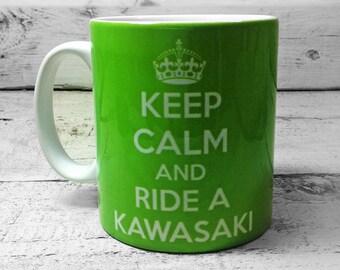 Keep Calm and Ride a Kawasaki Mug 11oz Gift Cup