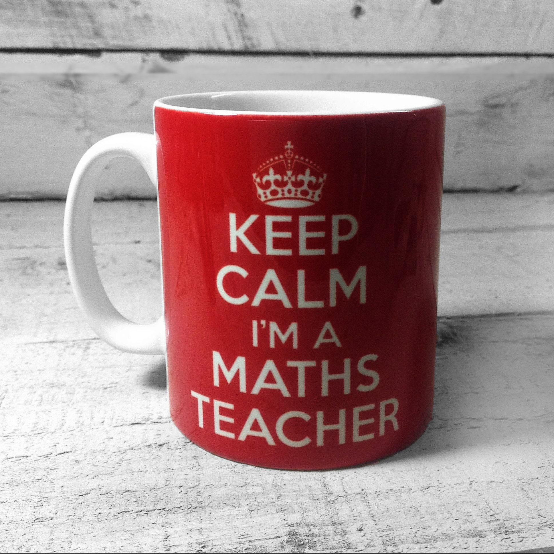 Ruhig ich bin ein Mathe Lehrer Becher Tasse Ideal Ende der   Etsy