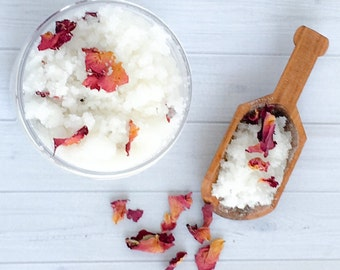 Rose Petal Sugar Scrub- handmade exfoliating products