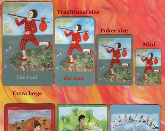 Fiery Wands Tarot: extra-large deck, made to order