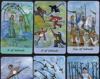 Airy Wands Tarot: extra-large deck, made to order