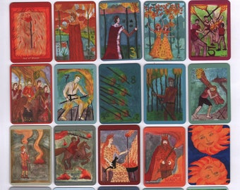 Fiery Wands Tarot: mini deck, in stock