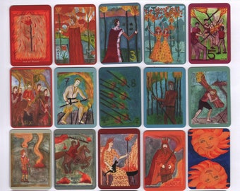 Fiery Wands Tarot: mini deck, made to order