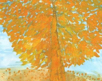 Original painting: Autumn Tree