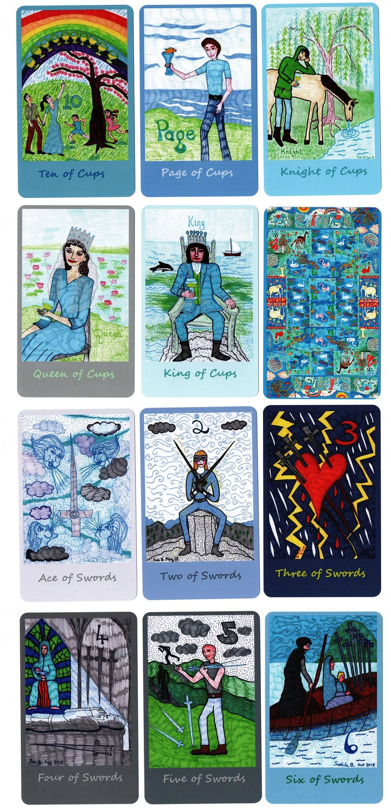 Younger Self Tarot, extra large, made to order, choice of back designs