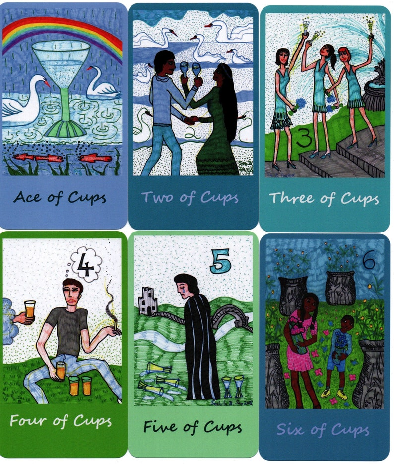 Younger Self Tarot: classic-size deck, in stock, Woman and Fountain back  design
