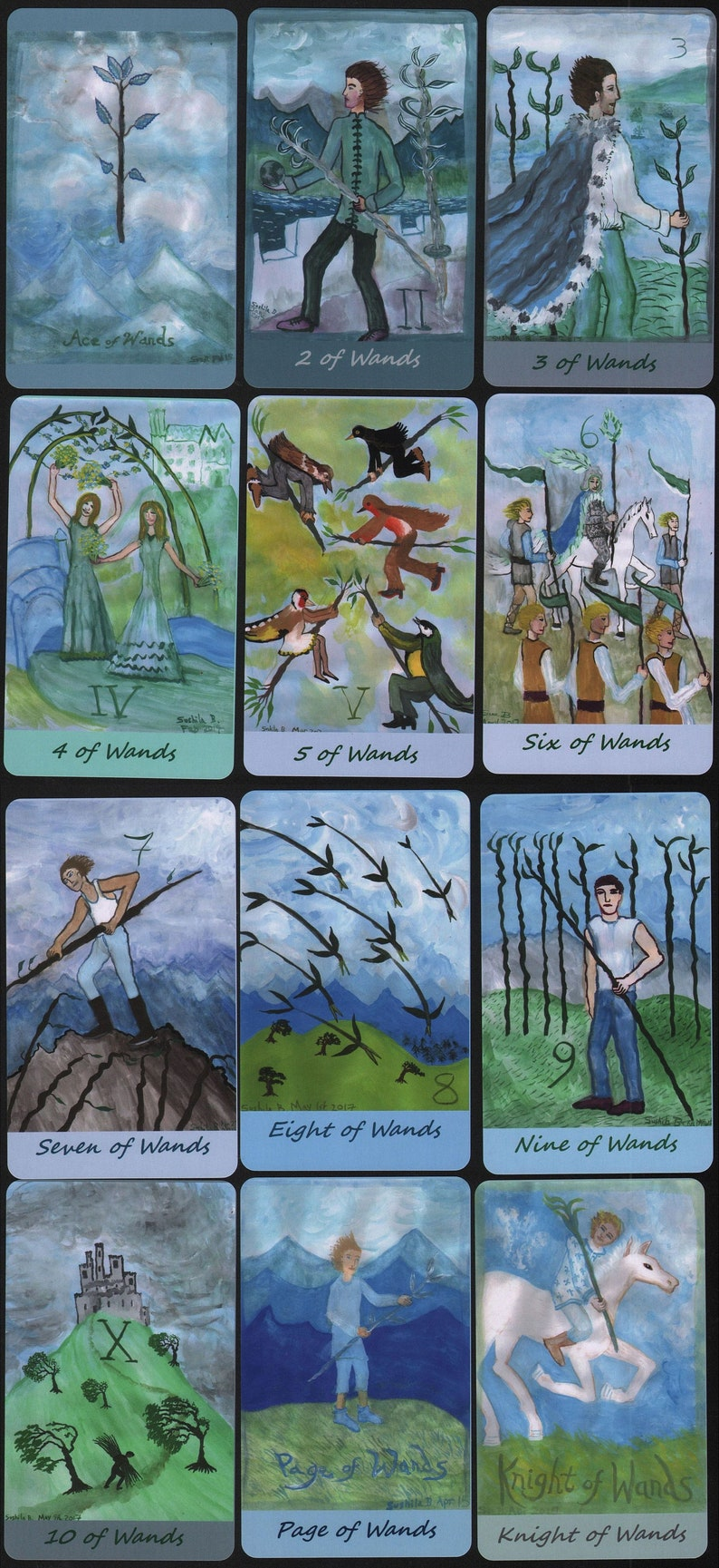Airy Wands Tarot: extra-large deck made to order choice of image 0