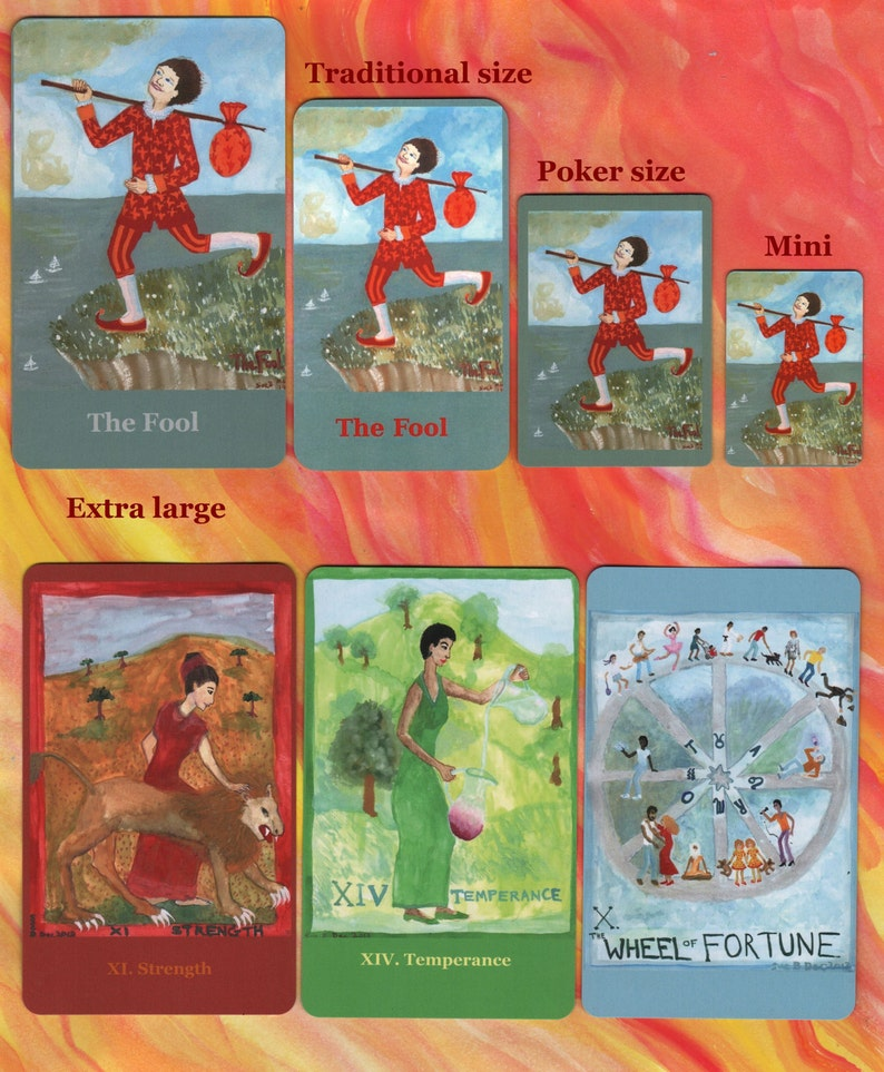 Fiery Wands Tarot: extra-large deck made to order choice of image 0