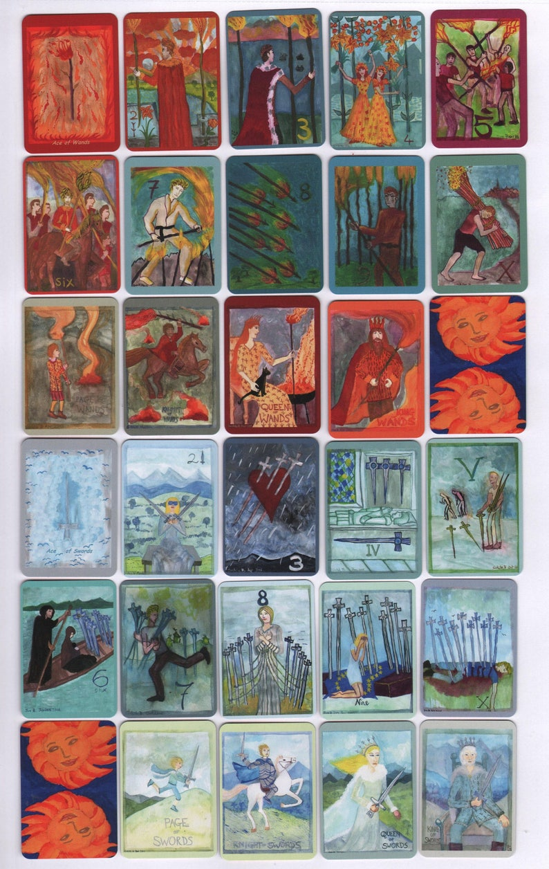 Fiery Wands Tarot: mini deck made to order choice of back image 0