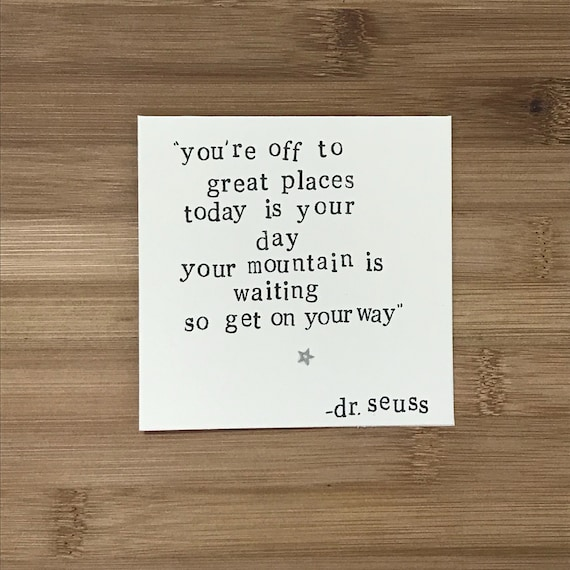 you have brains dr seuss quote card 5x7 inch birthday ?