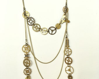 Beautiful asymmetric layered necklace