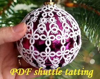 Bubble 3D–5'PDF Original Shuttle Tatting Pattern. Instant Digital Download. Tatting yourself. xmas gift. schemat frywolitki