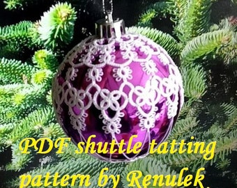 Bubble 3D–1'PDF Original Shuttle Tatting Pattern. Instant Digital Download. Tatting yourself. xmas gift. schemat frywolitki.