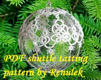 Bubble 3D–8'PDF Original Shuttle Tatting Pattern. Instant Digital Download. Tatting yourself. xmas gift. schemat frywolitki