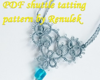 Tatting Heart. PDF Original Shuttle Tatting Pattern. Instant Digital Download. Tatting yourself xmas gift. schemat frywolitki czółenkowej.