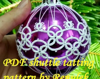 Bubble 3D–4'PDF Original Shuttle Tatting Pattern. Instant Digital Download. Tatting yourself. xmas gift. schemat frywolitki.