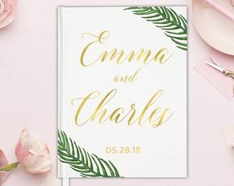 Unique Guestbook Wedding Guest Book Gold Foil Greenery - Wedding Guest Book Unique Wedding Guest Book Gold Foil Wedding Guest Book 15 COLORS