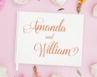 Rose Gold Wedding Guest Book Rose Gold Guest Book Wedding, Rose Gold Guestbook, Unique Wedding Guest Book Foil,Custom Guestbooks, 15 COLORS