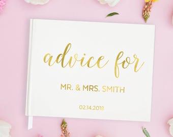 Gold Foil Wedding Guest Book Wedding Advice Guest Book, Gold Guest Book Wedding Guest Book with Gold Wedding Guest Book Gold, 15 COLORS