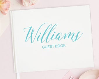 Guest Book Ideas for Wedding Guest Book Unique Guest Book Wedding Personalized Guest Book Journal - Wedding Guest Book Alternative 15 COLORS