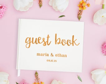 Rose Gold Wedding Guest Book for Wedding Guest Book Rose Gold, Rose Gold Guest Book Wedding Rose Gold Guestbook Wedding, 15 COLOR CHOICES