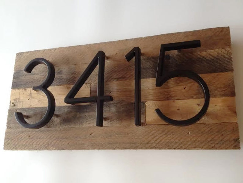 e227b4514046 Rustic House Numbers Modern House Number Sign Farmhouse | Etsy
