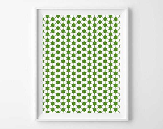 Green Ball Pattern Print Boys Room Nursery