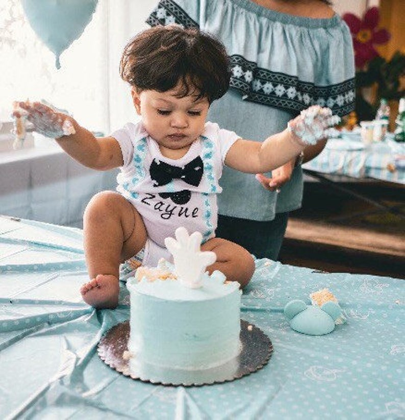 b02af80ffe First birthday boy cake smash cake smash outfit Mickey Mouse