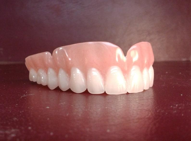 Denture upper false teeth medium   Etsy