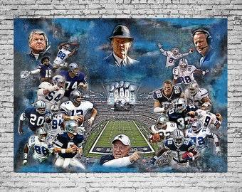 Dallas Cowboys, Cowboy 5 Super bowl , Cowboys All Time Greats and  Legendary.