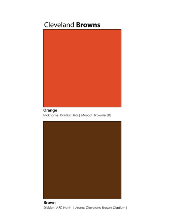 Cleveland Browns Pantone Poster Wall Art | Etsy