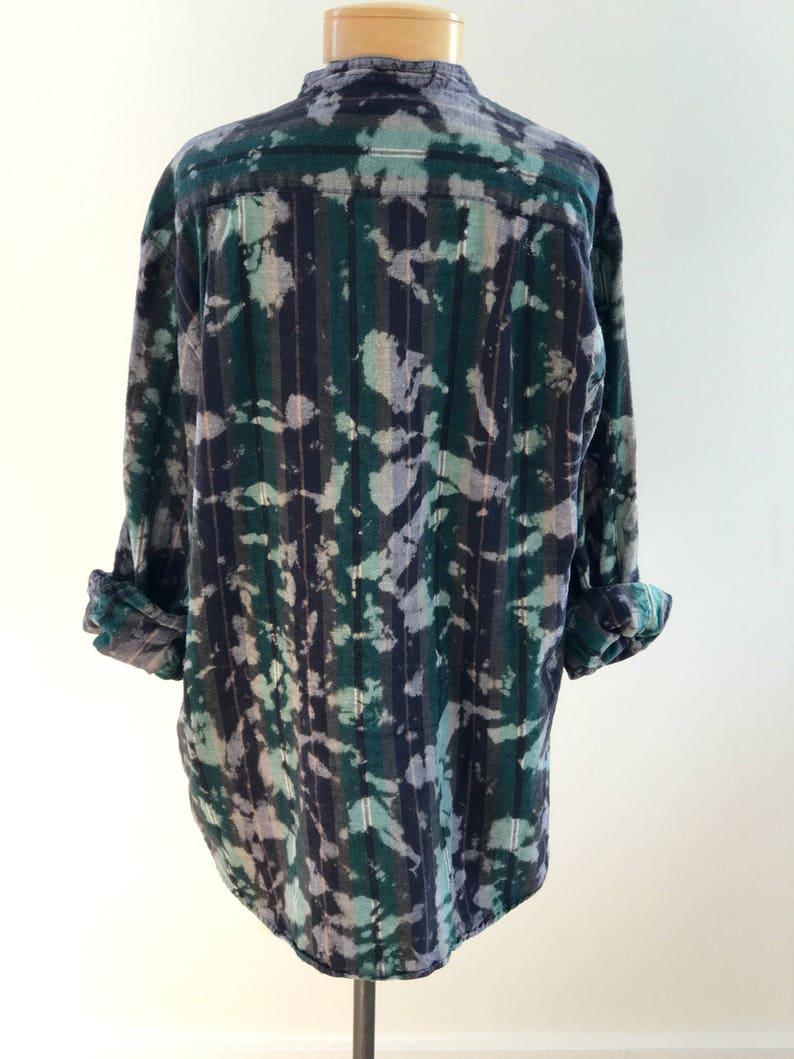 97a3278887 Unisex Short Collar Striped Flannel Shirt | Etsy