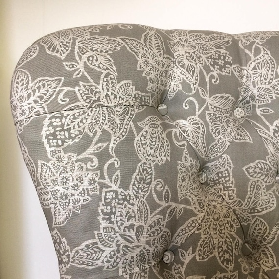 Terrific Astrid Upholstered Grey Floral Lounge Chair Squirreltailoven Fun Painted Chair Ideas Images Squirreltailovenorg
