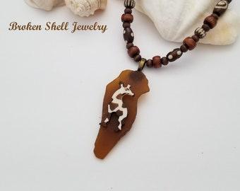 Africa Pendant African Bone Pendant Made in Kenya ** African Continent Jewelry Making Supplies PND-BON-121 Batik Bone Pendant