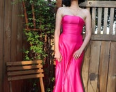 1980s Gunne Sax Hot Pink Prom Dress 80s formal gown 80s prom 1980s pink dresss