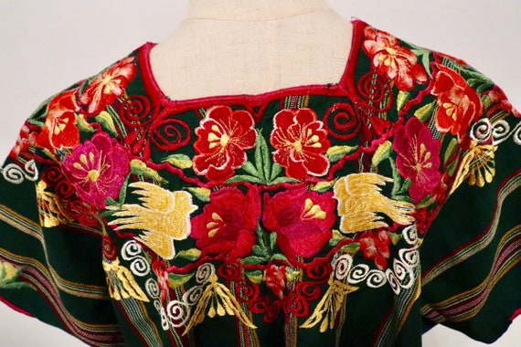 70s Embroidered Poncho | 1970s vintage clothing 70